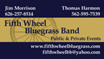 Fifth Wheel Bluegrass Band Business Card